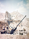 British Soldiers with a Bofors 40MM Anti-Aircraft Gun Below Monte Cassino, Italy, April 1944 Photographic Print
