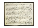 Norway, Bergen, Autograph Score of First Work of Edvard Hagerup Grieg Giclee Print