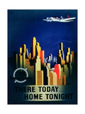 There Today, Home Tonight', Advertisement for Twa, the Transcontinental Airlines Giclee Print