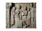 Roman Civilization, Relief Portraying Lady Having Her Hair Styled, from Neumagen-Dhron, Germany Giclee Print