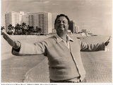 Jackie Gleason in Miami Beach Photographic Print
