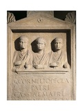 Roman Civilization, Stele of Cornelii Family from Rome Giclee Print