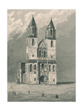 Germany, Magdeburg, View of Cathedral's Facade Giclee Print