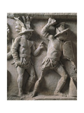 Roman Civilization, Relief with Scenes of Gladiatorial Combat and Games Giclee Print