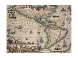 Map of America by Gerardo Mercatore, 1512-1594 Giclee Print