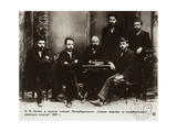Lenin During a Meeting for the Struggle for the Liberation of the Working Class in 1897 Giclee Print