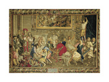 Louis XIV Visiting the Gobelins Factory, 1673 Giclee Print