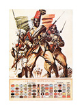 Colonial Corps Troops, C.1918 Giclee Print