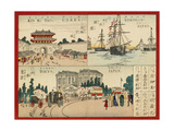 Famous Places in the World - Japanese Cities, Meiji Era, 1887 Giclee Print