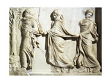 Marble Slab Portraying Three Graces Giclee Print