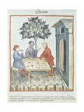 Drunkenness, Miniature by Giovannino De Grassi from the Tacuinum Sanitatis Giclee Print
