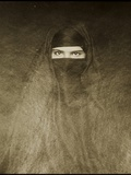 Woman Wearing a Burqa, Early 20th Century Photographic Print