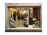 Roman Civilization, Model Reconstruction of Roman Wine Shop Giclee Print