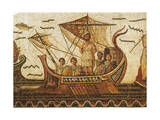 Tunisia, Dougga, Mosaic Work Depicting Ulysses Giclee Print