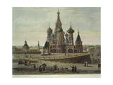 Russia, Moscow, Red Square with Saint Basil's Cathedral Giclee Print
