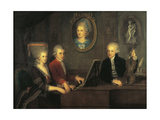 Austria, Salzburg, Mozart Family Giclee Print