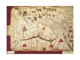 Map of Mediterranean Sea, Messina, 1508 Giclee Print
