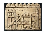 Roman Civilization, Terracotta Relief Depicting Lions and Gladiators Fighting in Circus Giclee Print