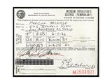 Marilyn Monroe's Driver's License, 1956 Giclee Print