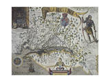 Map of Virginia: Inset Giclee Print