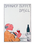 Poster Advertising Bahnhof Buffet, Basel, 1921 Giclee Print