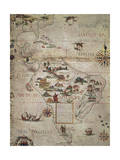 Map of Central and Southern America, 1550 Giclee Print