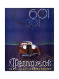Advertisement for the Peugeot 601, from 'Femina' Magazine, August 1934 Giclee Print