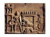 Roman Civilization, Terracotta Relief Depicting Hunting Scene in Circus Giclee Print