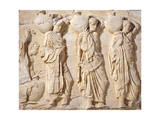 Greece, Athens, the Acropolis of Athens, Parthenon, Relief with Carriers of Hydriae Giclee Print