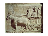 Roman Civilization, Relief Depicting Travel Scene, from Vaison-La-Romaine, France Giclee Print