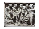 Roman Civilization, Relief Portraying Children Playing with Nuts, Detail from Sarcophagus Giclee Print
