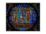 Window W0 Depicting the Adoration of the Magi Giclee Print