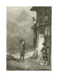 Louis Philippe at the Hospitium on Mount St. Gothard Giclee Print
