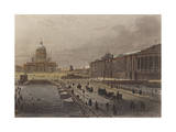 View of St. Petersburg with Saint Isaac's Cathedral in Background Giclee Print