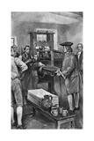 Benjamin Franklin Offering Advice to Printers Giclee Print