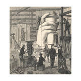 Workman Building Statue of Liberty Giclee Print