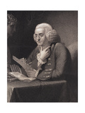 Engraving by Thomas B. Welch after Benjamin Franklin by David Martin Giclee Print