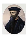 Portrait De John Calvin Giclee Print by Stefano Bianchetti