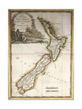 Map of New Zealand Giclee Print
