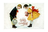 Love's Greeting Postcard by Ellen H. Clapsaddle Giclee Print by David Pollack