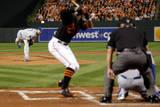 ALCS - Kansas City Royals v Baltimore Orioles - Game One Fotografisk tryk af Pool