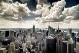 View of Manhattan, New York Fotografiskt tryck av Steve Kelley