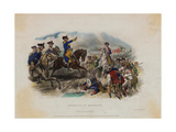 George Washington and His Men during Monmouth Battle Giclee Print
