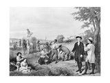 George Washington Conversing with Workers Giclee Print
