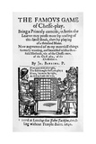 17Th Century Cover to Chess Pamphlet Giclee Print
