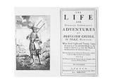 Title Page from Robinson Crusoe by Daniel Defoe Giclee Print