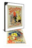 """Reproduction of Poster for """"Bal Au Moulin Rouge,"""" 1889 & Poster for Flower Festival, 1890 Set Prints by Jules Chéret"""