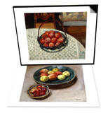 The Basket of Fruit & Still-life with Apples Set Posters by Henri Lebasque