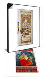 Plakat Vystava Ve Vyskove, 1902 & Poster for 6th Meeting of Czech Sokol-Union, Prague 1912 Set Prints by Alphonse Mucha
