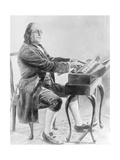 Benjamin Franklin Playing Harmonica Giclee Print